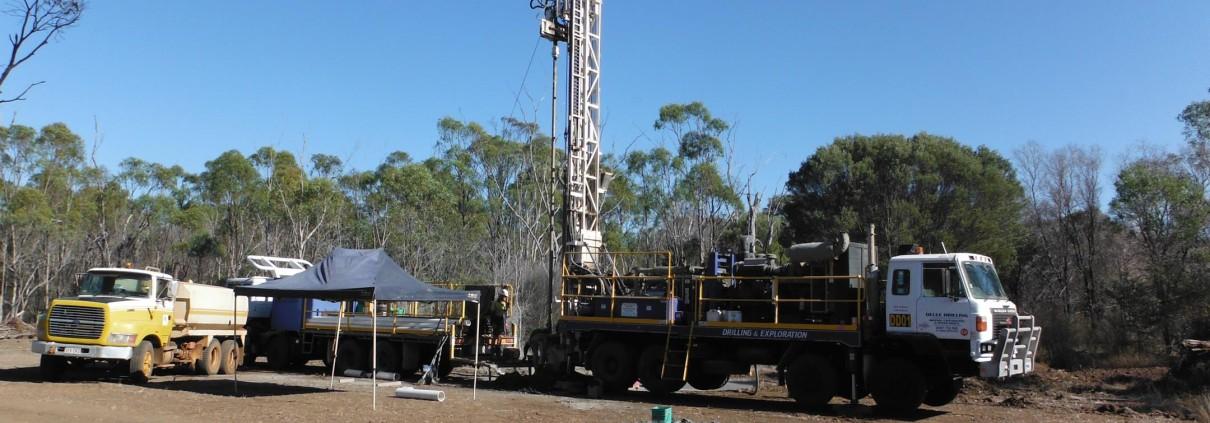 Decle Drilling rig, Byerwen 2014